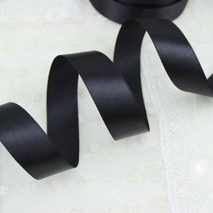Лента атласная черная 50 мм