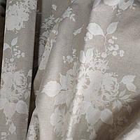 Ткань для штор Marbore Розы натуральный фон 280 см (956001)