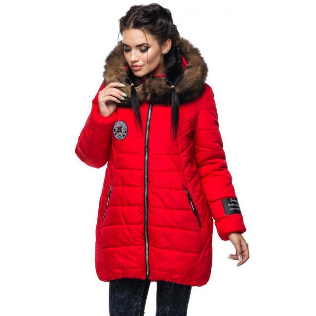 a07685369078 Стильная куртка с меховым капюшоном и силиконовым утеплителем.