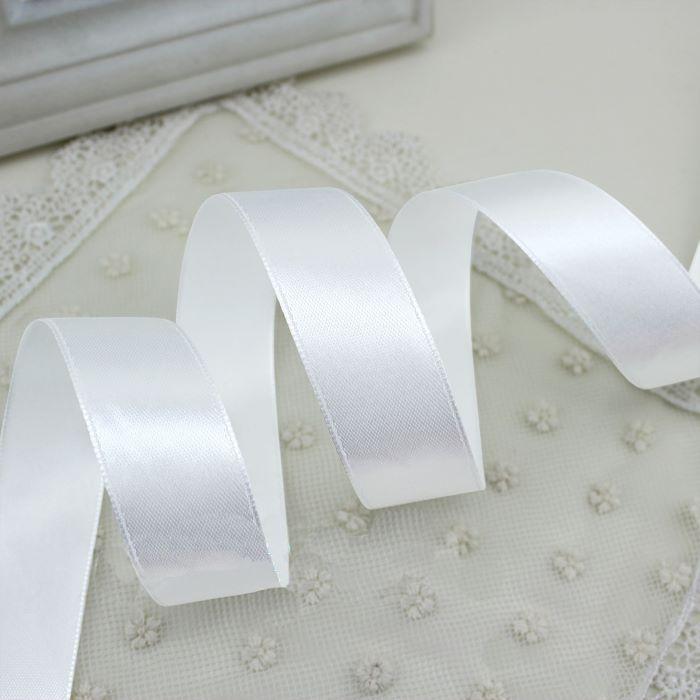 Лента атласная белая 12 мм