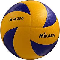 Мяч волейбольный Mikasa MVA 200 сине-желтый, размер 5