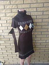 Свитер женский удлиненный, платье вязаное LA FEMME MODE, Турция, фото 2