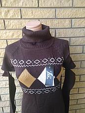 Свитер женский удлиненный, платье вязаное LA FEMME MODE, Турция, фото 3