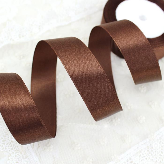 Лента атласная шоколад 40 мм