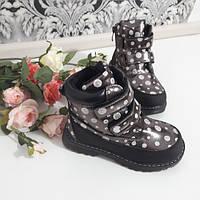 Черевики дитячі для дівчинки (27-32) чорні в горошок 825619dfd1c8b