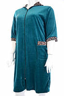 Халат женский велюровый с коротким рукавом