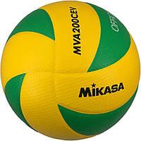 Мяч волейбольный Mikasa MVA 200 CEV зелено-желтый 731c95a6248a4