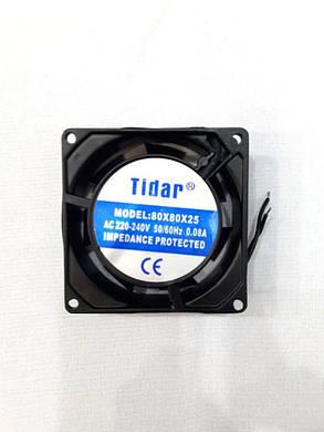 Вентилятор Tidar (220V, 0.08A) 80х80х25 мм, фото 2