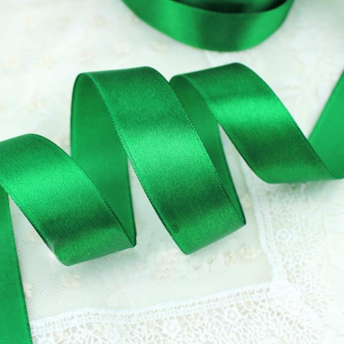 Лента атласная 118 зеленая 6 мм