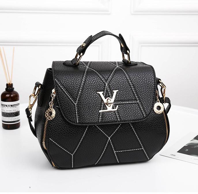 bc2efb6cb156 Черная женская сумка кожа ПУ, цена 579,70 грн., купить в Днепре ...