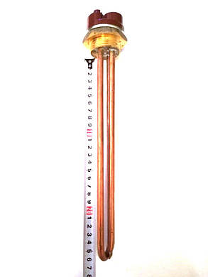 Тэн прямойрезьбовой для водонагревателей 1500W  / L=265мм, фото 2