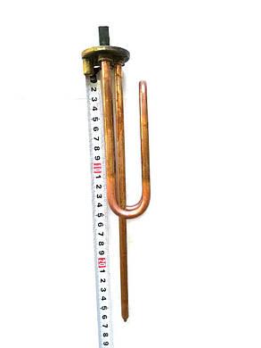 Тэн на фланце гнутый для водонагревателей ø48мм 2000W  / L=280мм / Италия, фото 2
