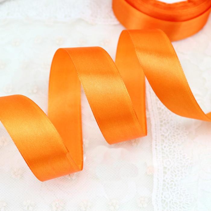 Лента атласная оранжевая 25 мм