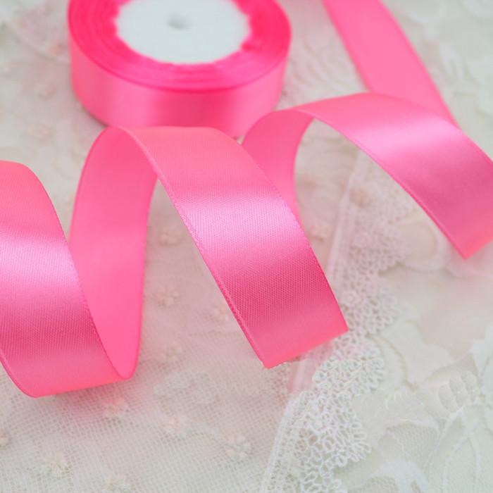 Лента атласная 147 розовая 6 мм