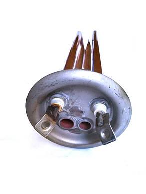 Тэн на фланце дважды гнутый для водонагревателей с 2-мя трубками ø63мм / 2000W  / L=300мм / Италия, фото 2