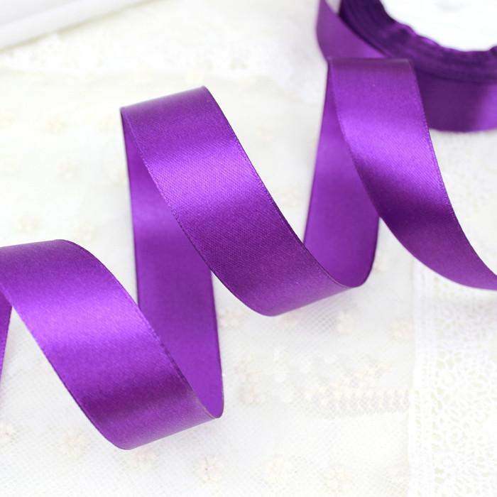 Лента атласная 3129 фиолетовая 6 мм