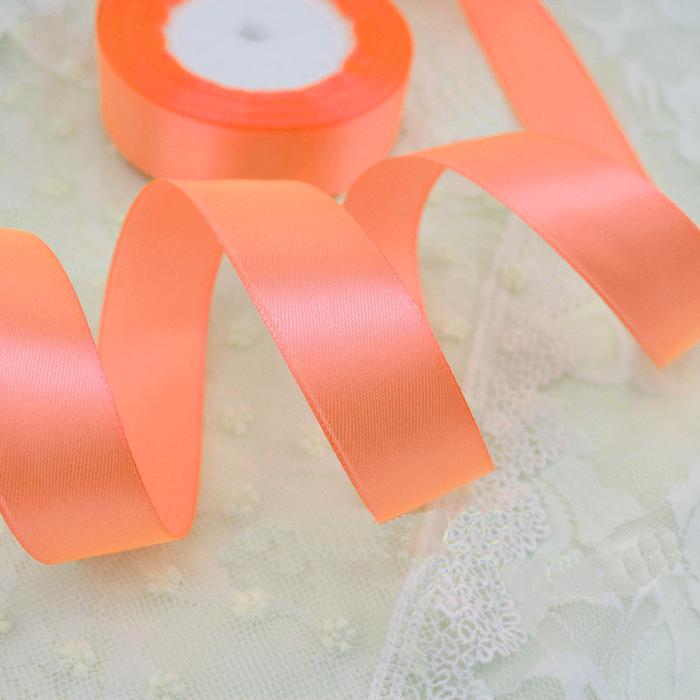 Лента атласная персиковая 40 мм