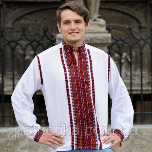 Мужская сорочка двойная вышивка | Чоловіча сорочка подвійна вишивка