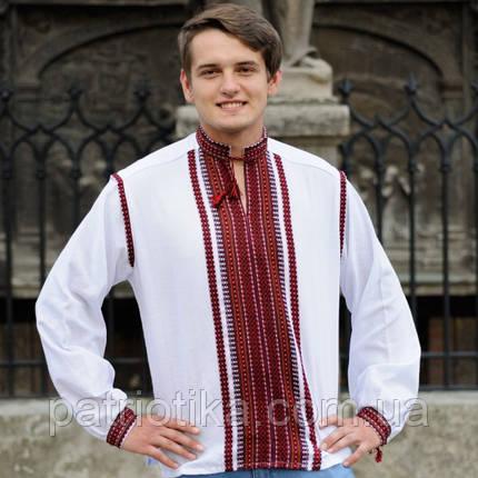 Мужская сорочка двойная вышивка | Чоловіча сорочка подвійна вишивка, фото 2