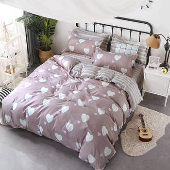 Комплект постельного белья Белое сердце (двуспальный-евро) Berni