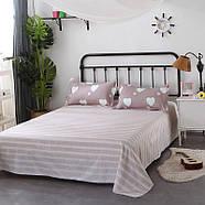 Комплект постельного белья Белое сердце (двуспальный-евро) Berni, фото 3