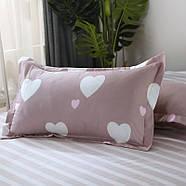 Комплект постельного белья Белое сердце (двуспальный-евро) Berni, фото 4