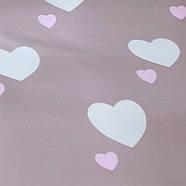 Комплект постельного белья Белое сердце (двуспальный-евро) Berni, фото 5