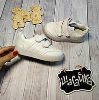 Детские кроссовки кеды на мальчика , девочку Белые 26 размер  - 15,3 см