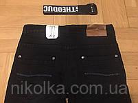 Джинсовые брюки на флисе для мальчиков оптом, F&D, 134-164 рр., арт.F258, фото 5
