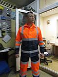 """Костюм дорожника """"Асфальт-Мастер"""" (полукомбинезон и куртка) со светоотражающими полосами, фото 6"""