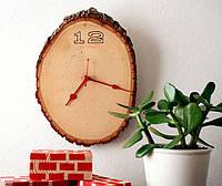 Часы на стену из спила ольхи