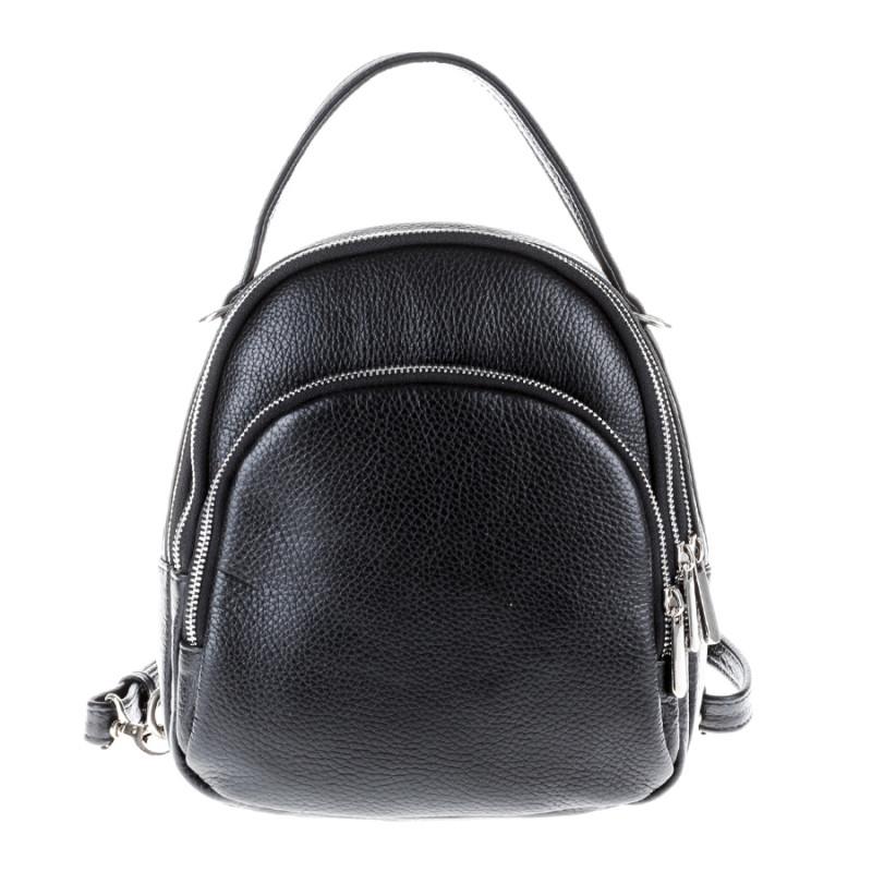fe1853d0f1df Сумка-рюкзак Vera Pelle 2166-5 кожаная черная женская - Мистер Воллет на  Prom