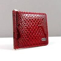 Зажим для купюр кожаный красный Desisan 208-03 Турция
