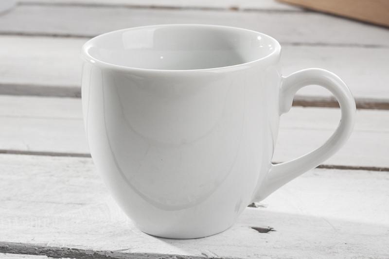 Чашка 100 мл. фарфоровая, белая Ameryka, Lubiana (блюдце 204-0171)