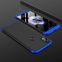 Чехол GKK 360 для Xiaomi Mi A2 / Mi 6X бампер оригинальный Black-Blue