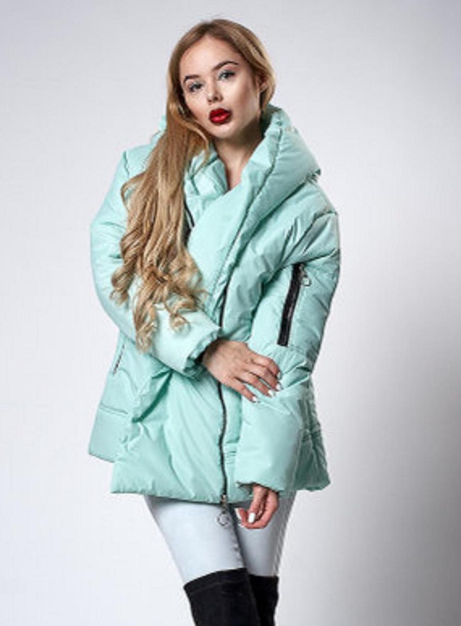 Мятная курточка на синтепоне