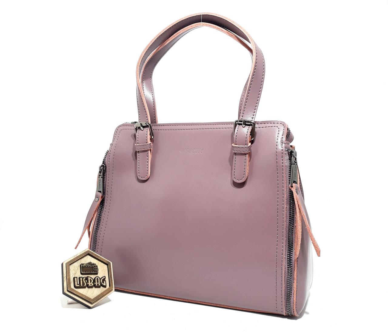 170b81a347da Женская классическая функциональная через плечо/на плечо кожаная сумка цвета  Пепла розы