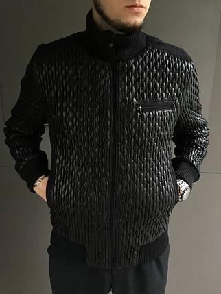 Стеганая мужская куртка GUCCI черная , фото 2