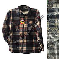6e1fa53c7ea983e Теплая мужская рубашка на искусственном меху B805 НОРМА оптом в Одессе