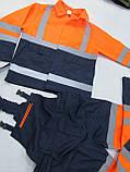"""Костюм дорожника """"Асфальт-Мастер"""" (полукомбинезон и куртка) со светоотражающими полосами, фото 8"""