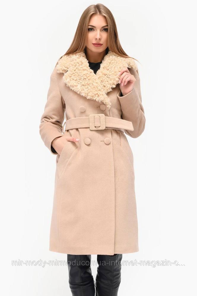 Зимнее пальто PL-8810-10  бежевый с 42 по 48 размер(x-w)
