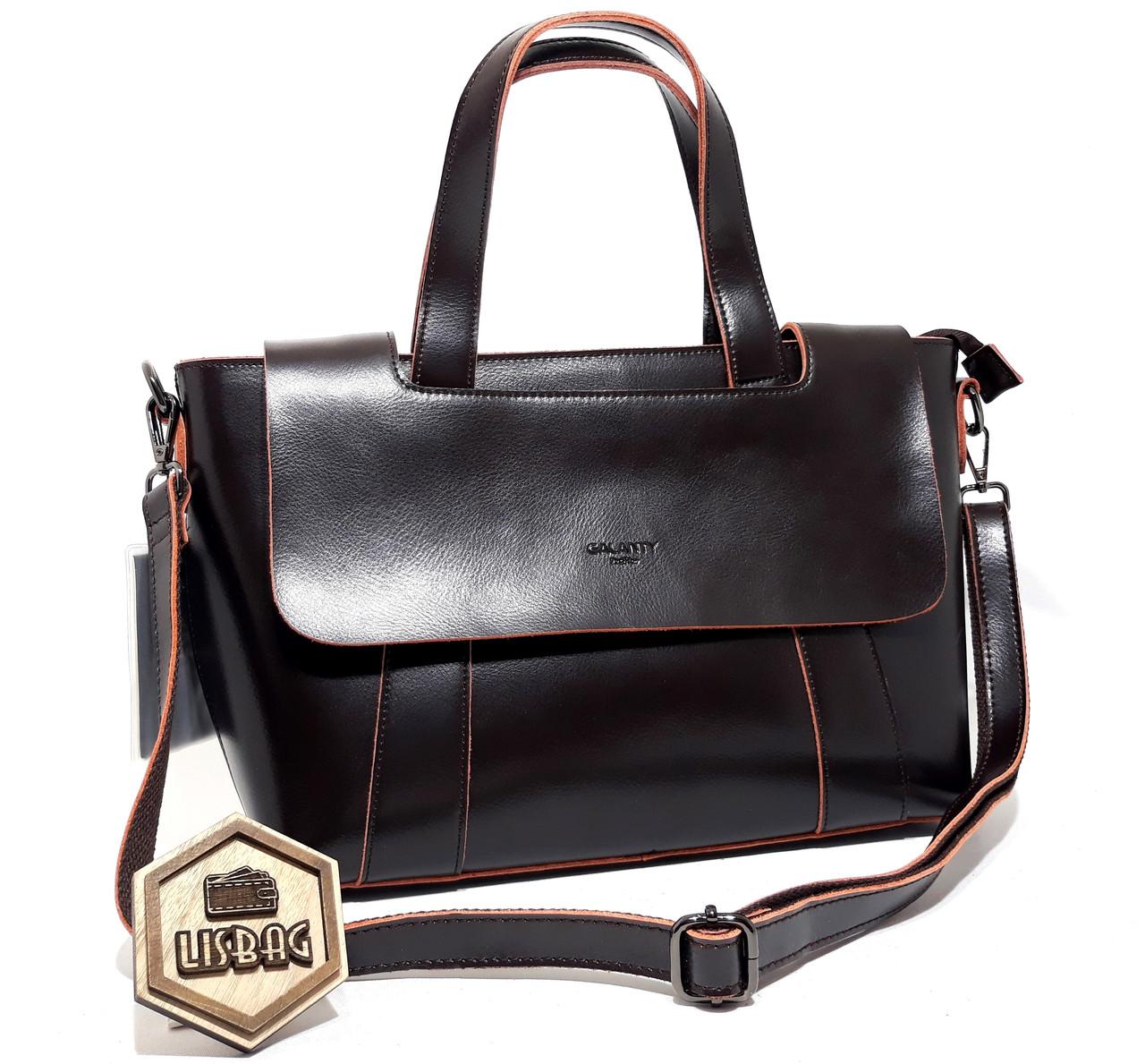2cb41cd7776a Стильная женская кожаная сумка формата А4 и А5 Шоколадного (темно- коричневого) цвета Новинка