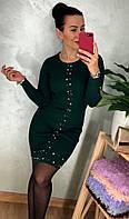 Трикотажное платье с камнями-стразами