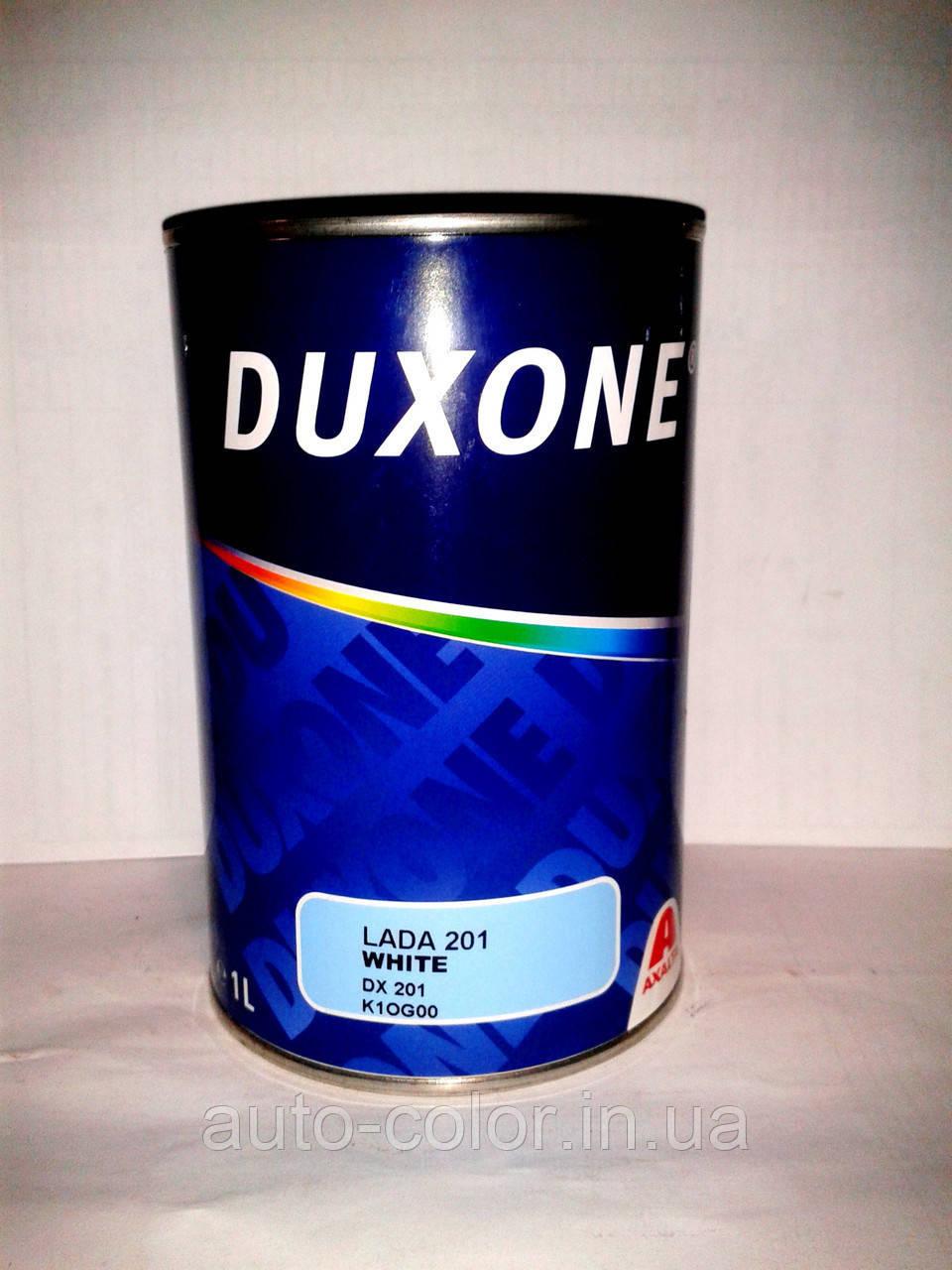 Акриловая краска DUXON  Белый 202  1л (без отвердителя)