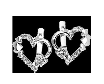 Серьги серебряные Сердце 41105
