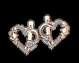 Серьги серебряные Сердце 41105, фото 2