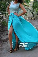 Стильное вечернее платье в пол с вырезом