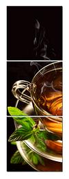 "Картина на стекле ""Чай с мятой"""