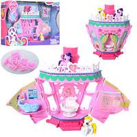 Будиночок Моя маленька Поні, конячки 2 шт, на батарейках, аксесуари, музика, в коробці My Little Pony