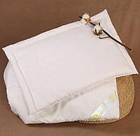 Набор одеяло детское 90х110 и подушка 40х60, хлопок, белый